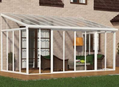 Veranda en kit aluminium et polycarbonate for Veranda rideau en kit