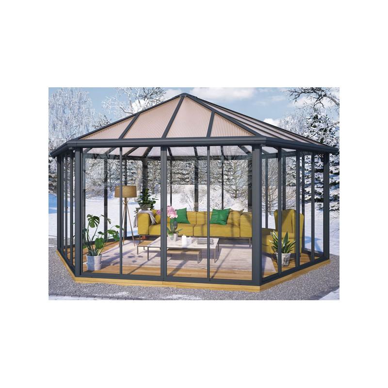 v randa hexagonale en aluminium de 19 m prix usine. Black Bedroom Furniture Sets. Home Design Ideas