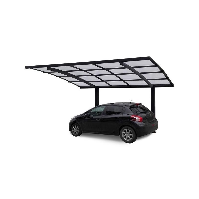 Abri voiture cintr carport aluminium prix usine for Prix abri voiture