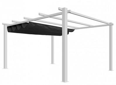 pergola alu et toile auto port e 4 x 3 m top prix. Black Bedroom Furniture Sets. Home Design Ideas