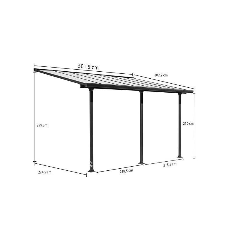 abri voiture en aluminium carport adosser. Black Bedroom Furniture Sets. Home Design Ideas
