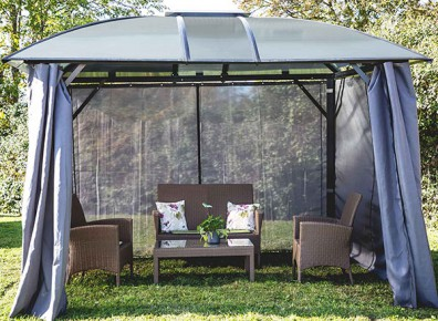 gloriette discount en aluminium toit en polycarbonate. Black Bedroom Furniture Sets. Home Design Ideas