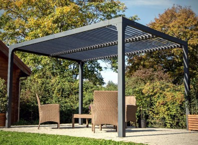 pergola autoport e alu avec lames orientables 11 m. Black Bedroom Furniture Sets. Home Design Ideas