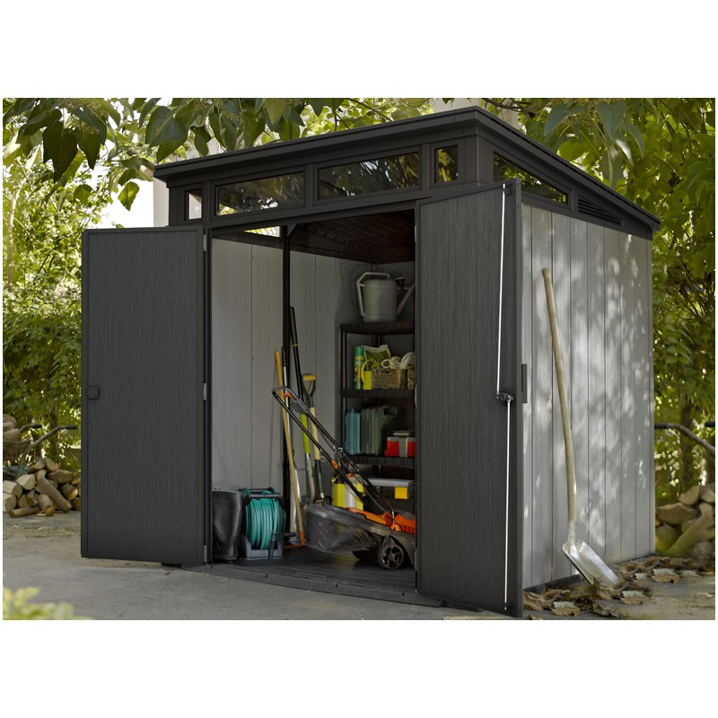 chalet de jardin pvc avec skylight. Black Bedroom Furniture Sets. Home Design Ideas