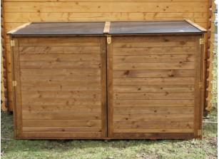 Coffre de Jardin bois autoclave et couvercle en polypropylène 2000 L