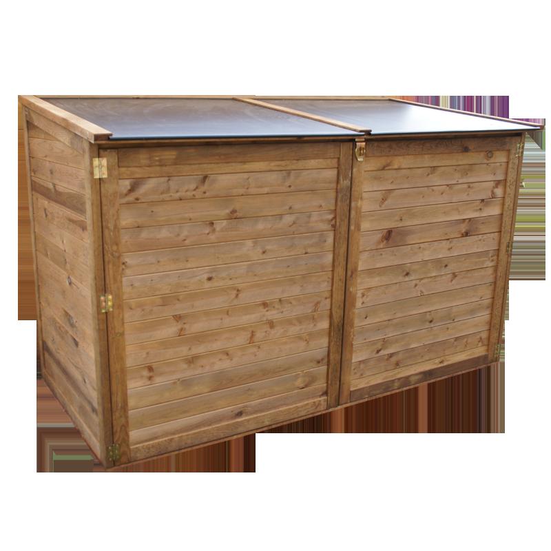 coffre de jardin en pin du nord trait pour l 39 ext rieur. Black Bedroom Furniture Sets. Home Design Ideas