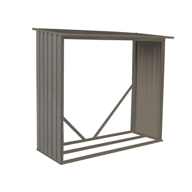 abri et b cher en m tal aspect bois vieilli. Black Bedroom Furniture Sets. Home Design Ideas