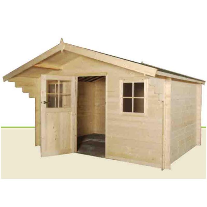 chalet de jardin bois epicea 28 mm. Black Bedroom Furniture Sets. Home Design Ideas