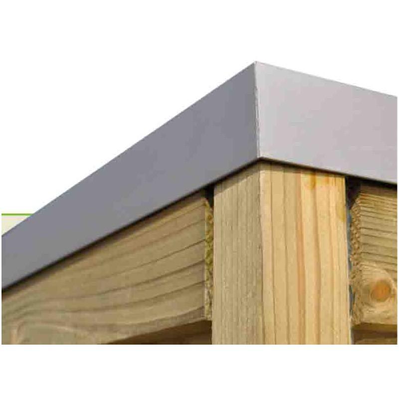 Abri de jardin en bois moderne 28 mm m for Abri jardin toit plat pvc