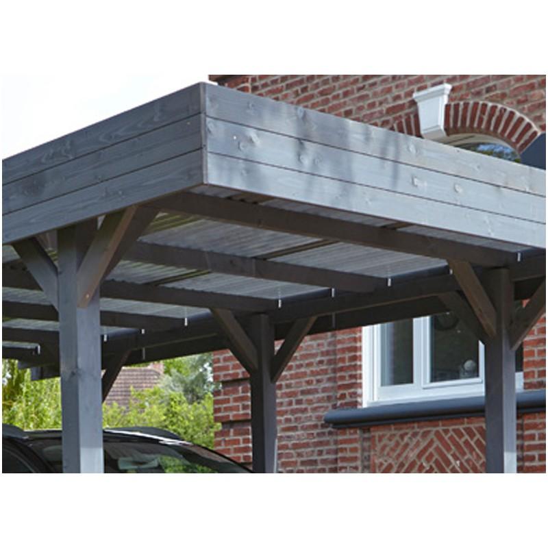abri voiture simple toit plat x m. Black Bedroom Furniture Sets. Home Design Ideas