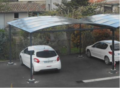 CARPORT DOUBLE METAL GAINÉ : 5 x 5 m