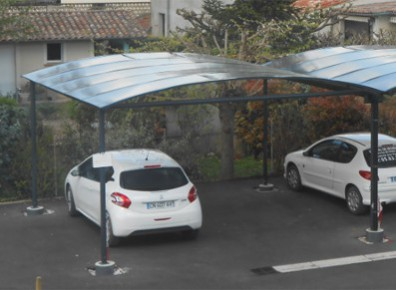 CARPORT DOUBLE METAL GAINÉ : 5 x 5 m