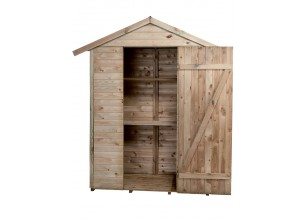 Armoire bois traité avec plancher