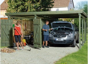 CARPORT + ATELIER - BOIS AUTOCLAVE
