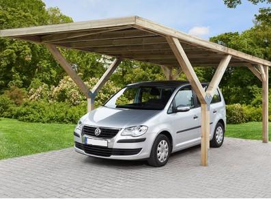 CARPORT TOIT PLAT PVC - BOIS AUTOCLAVE