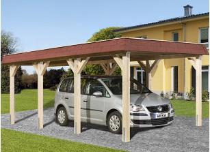CARPORT TOIT PLAT - BOIS AUTOCLAVE