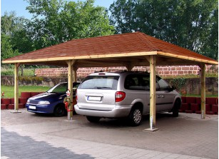 CARPORT AUTOCLAVE TOIT 4 PANS