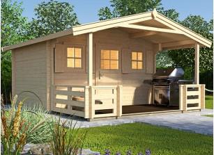abri bois 28 mm avec plancher et terrasse