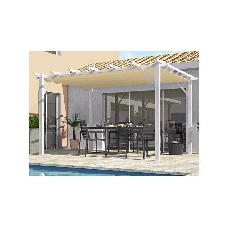 pergola alu et toile coulissante 4 x 3 m prix discount. Black Bedroom Furniture Sets. Home Design Ideas
