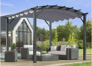 PERGOLA CINTREE+ TOILE DEPERLANTE