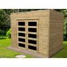 Abri de jardin panneaux bois autoclave 19 mm