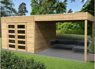 Abri panneaux bois autoclave + auvent