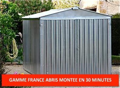 Garage metal france abris brut 2,54 x 5,14 m