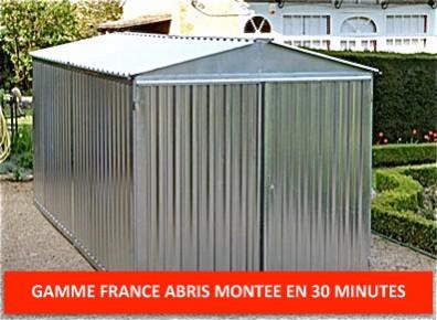 Garage metal 6 m acier galvanis montage facile port 0 for Garage tunnel metallique