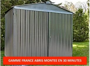 Abri jardin metal france abris brut 2,54 x 3,4 m