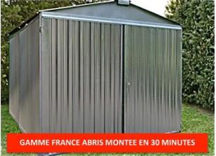Abri jardin metal france abris brut  2,54 x 4,30 m
