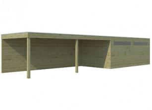 Garage bois autoclave + carport