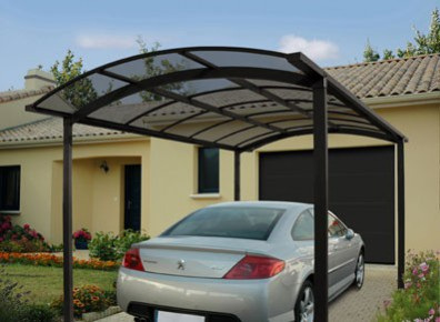 carport en aluminium asymetrique l 39 abri voiture id al. Black Bedroom Furniture Sets. Home Design Ideas