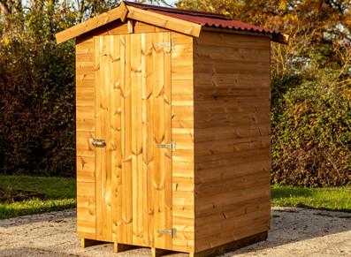 Abri panneaux bois traité + plancher