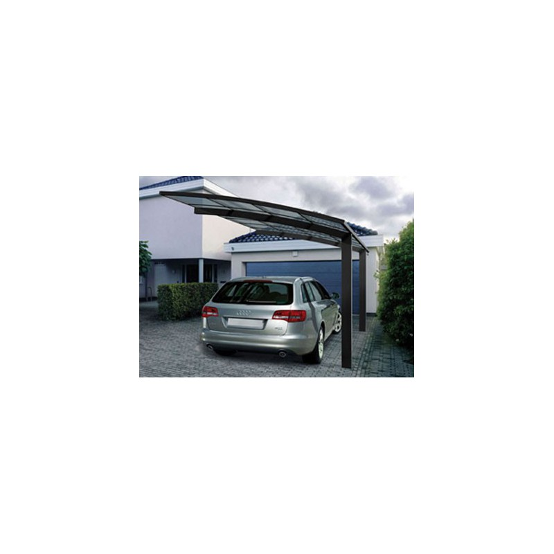 carport voiture aluminium asymetrique 2 poteaux plus pratique. Black Bedroom Furniture Sets. Home Design Ideas