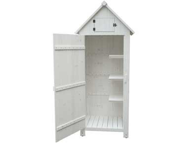 Armoire cabine lasurée