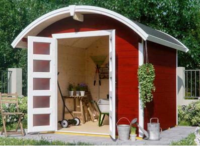 Abri de jardin bois avec toiture arrondie 6.25 m2