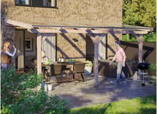 Toit terrasse en bois adossé
