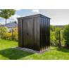 abri jardin métallique monopente