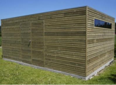 Abri de jardin cubique en bois autoclave 28 mm