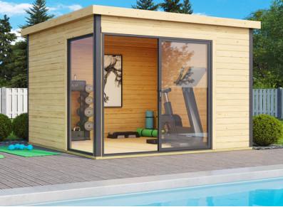 Abri jardin bois brut 44 mm