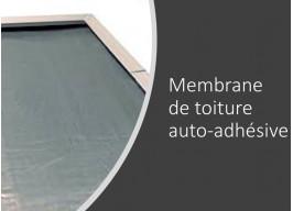 Option rouleau de membrane auto-adhésive composée de bitume et couche d'aluminium pour couvrir le toit plat de votre abri