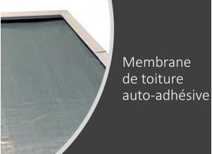 Option rouleau de membrane auto-adhésive pour couvrir le toit plat de votre abri de jardin bois