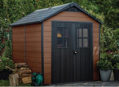 Abri jardin résine Woodium®759 marron