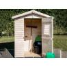 Abri jardin bois 16 mm avec plancher livré et monté chez vous