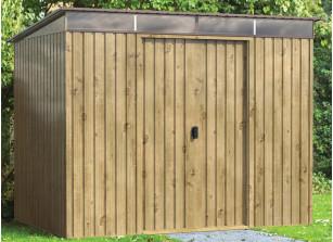 Abri Jardin métal aspect bois 4m2