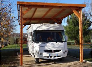 ossature à couvrir pour camping car en bois douglas