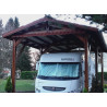 Ossature camping-car bois douglas 42m2