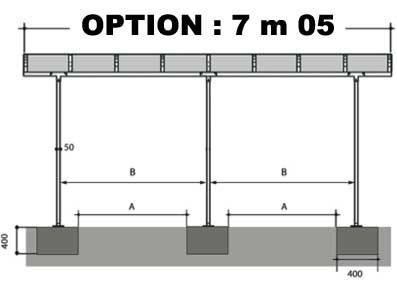 OPTION 7m05 - VENDUE AVEC UN CARPORT