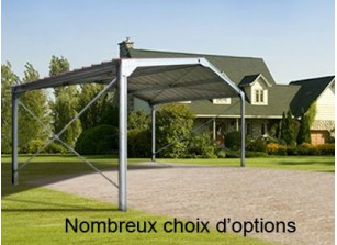 abri voiture m tal alu carport 1 ou 2 voitures promo france abris. Black Bedroom Furniture Sets. Home Design Ideas