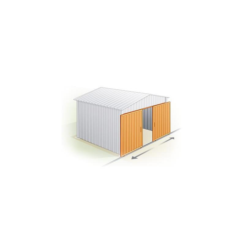 Garage metal largeur xxl m x m for Garage tunnel metallique